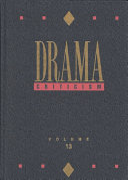 Drama Criticism