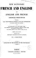 Nouveau dictionnaire français-anglais et anglais-français abrégé de Boyer rédigé d'après les meilleurs dictionnai, 2