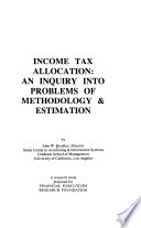 Income tax allocation