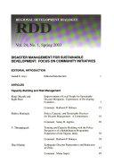 Regional Development Dialogue Book