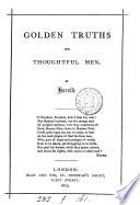Golden Truths for Thoughtful Men