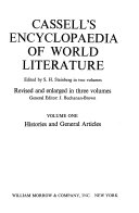 Cassell s Encyclopaedia of World Literature  Histories and general articles Book