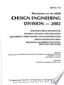 Proceedings of the ASME Design Engineering Division ...