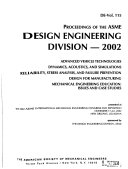 Proceedings of the ASME Design Engineering Division