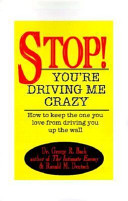 Stop! You're Driving Me Crazy