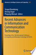 Recent Advances in Information and Communication Technology