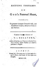 Edifying Thoughts on God s Paternal Heart  and the Lord s Prayer     Translated from the German