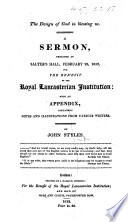 The Design of God in Blessing Us  A Sermon  on Gen  Xii  2       with an Appendix  Containing Notes and Illustrations  Etc
