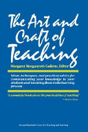 The Art and Craft of Teaching