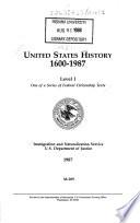 United States History  1600 1987