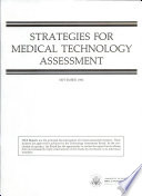 Strategies for Medical Technology Assessment Book