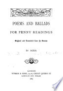 Poems and Ballads for Penny Readings