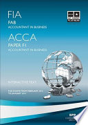 FIA Foundations of Accounting in Business   FAB Study Text 2013 Book