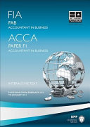FIA Foundations of Accounting in Business   FAB Study Text 2013