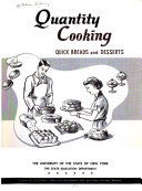 Quantity Cooking  Quick Breads and Desserts