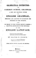 Grammatical Instructor  Or  Common School Grammar