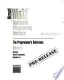 Microsoft Win 32 Application Programming Interface