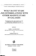 Wolf Rayet Stars And Interrelations With Other Massive Stars In Galaxies Book PDF