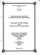 Health Systems Research  HSR  for National Drug Policy Implementation