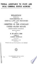 Federal assistance to State and local criminal justice agencies Book