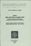 (Motif index of French Arthurian verse romances (XIIth - XIIIth cent.))