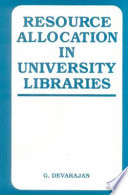 Resource Allocation in University Libraries