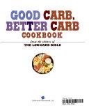 Good Carb  Better Carb Cookbook