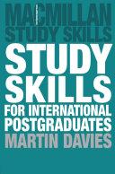 Study Skills for International Postgraduates