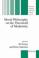 Pdf Moral Philosophy on the Threshold of Modernity
