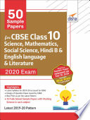 50 Sample Papers For Cbse Class 10 Science Mathematics Social Science Hindi B And English Language Literature 2020 Exam