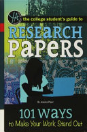 The College Student s Guide to Research Papers