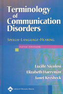 Terminology of Communication Disorders