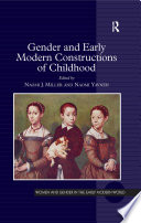 Gender and Early Modern Constructions of Childhood Book