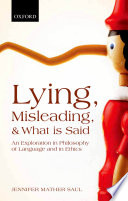 Lying  Misleading  and What is Said