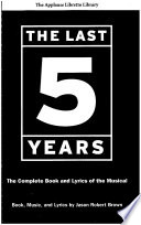 The Last Five Years  The Applause Libretto Library