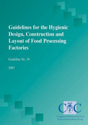 Guidelines for the Hygienic Design  Construction and Layout of Food Processing Factories