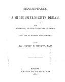 Shakespeare s A Midsummer night s Dream