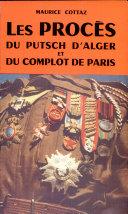 Pdf Les procès du putsch d'Alger et du complot de Paris Telecharger
