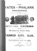 Proceedings of the     Annual Reunion of the Yates Phalanx  39th Regiment Ill  Infantry