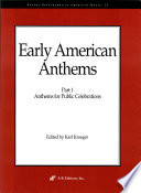 Early American Anthems  Part 1