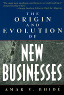 The Origin and Evolution of New Businesses Book