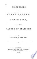 Discourses on Human Nature  Human Life  and the Nature of Religion Book PDF