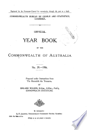 Official Year Book Of The Commonwealth Of Australia No 29 1936