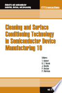 Cleaning And Surface Conditioning Technology In Semiconductor Device Manufacturing 10 Book PDF