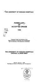 The University of Chicago Hospitals Formulary