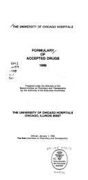 The University of Chicago Hospitals Formulary