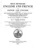 Royal Dictionary, English and French and French and English