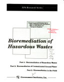 Bioremediation of Hazardous Wastes Book
