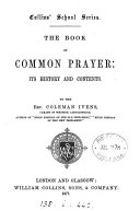 The Book of common prayer: its history and contents