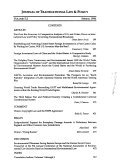 Journal Of Transnational Law Policy